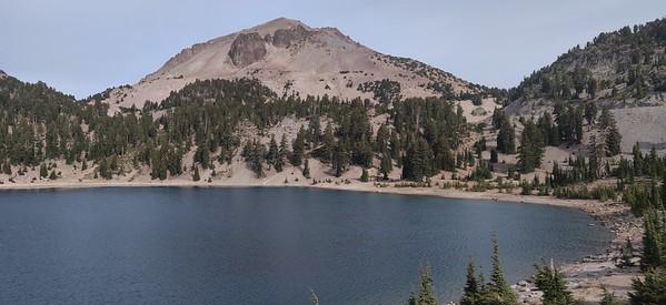 Mount Lassen and Lake Helen