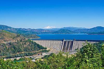 Shasta Dam, Lake and Mountain