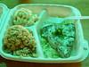ahi, macaroni salad and rice at Kakaako in Ward Center