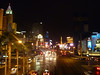 The Strip===New York New York on left and MGM on right, tower for Paris way down the road