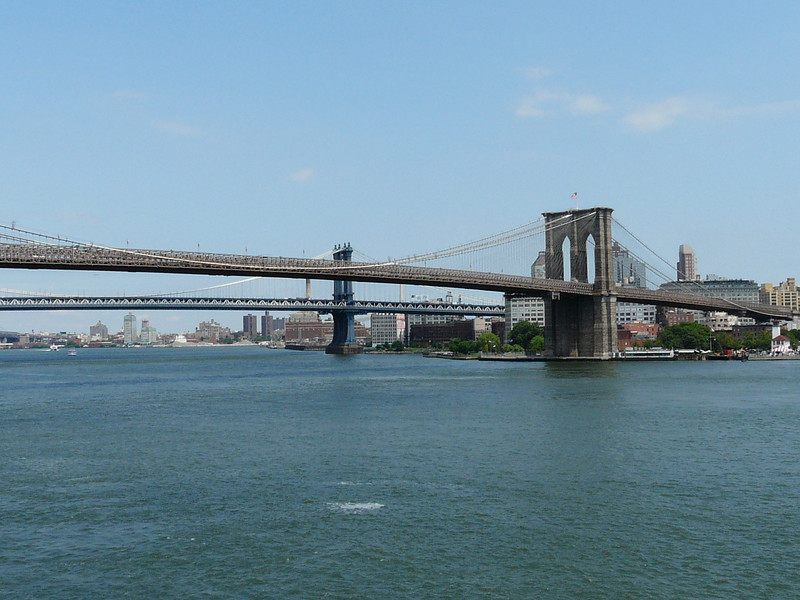 Brooklyn Bridge as viewed from South Street Seaport (photo taken day after the tour)