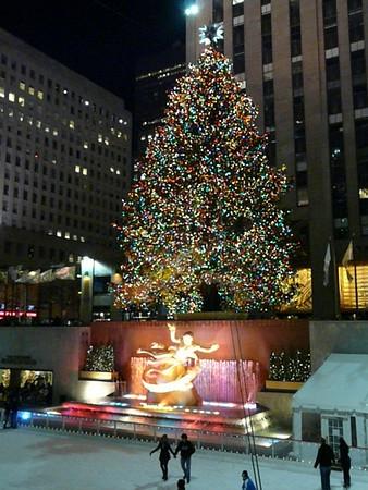 2010 Christmas Week in New York City-Nighttime photos