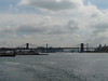 Brooklyn Bridge viewed from the Staten Island Ferry