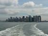 lower Manhattan viewed from the Staten Island Ferry