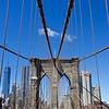 Brooklyn Bridge Tower with New York City Skyline