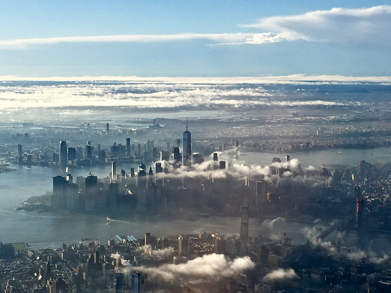 New York City from Airplane