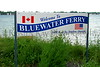 bLUE WATER FERRY SIGN