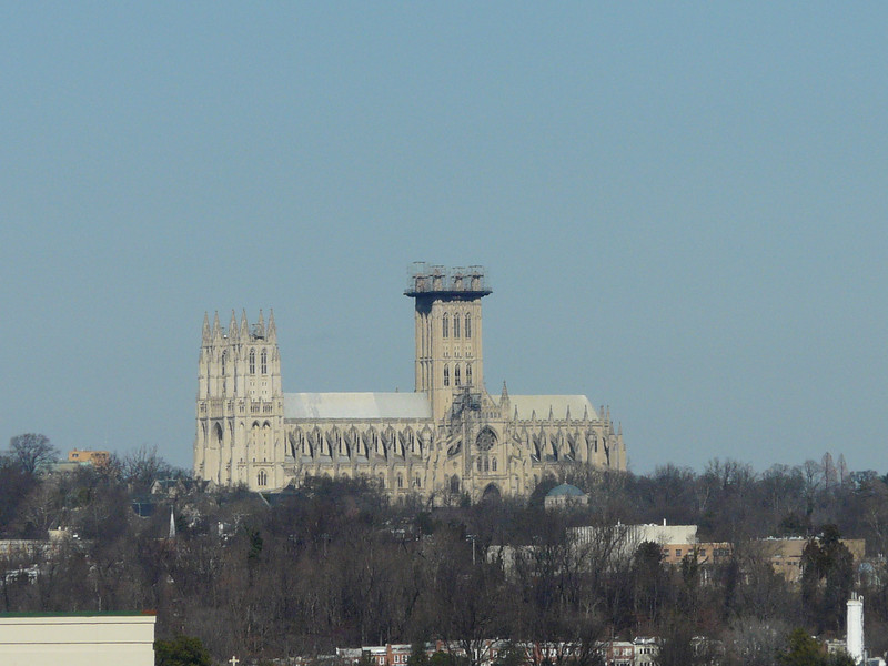 National Cathedral viewed from my hotel in Arlington