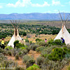 There are mentions in advertisements of visiting an Indian Village as an added attraction to the Skywalk tour, These two Indian Teepees and two teepees formed out of trees are the only signs of the Indian Village.