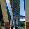 Taken from under the entrance canopy of Aria Hotel looking towards the Veer Hotel building beyond.