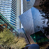 A beautiful spot in the CityCenter is the open space between the Aria Hotel's main reception desk and Crystals Shopping Mall. On this area you can appreciate the glass towers of Aria Hotel, the smooth aluminum skin cladding of the mall structure, the reflecting pool, the trees and the beautiful sculpture of Henry Moore called Reclining Connected Forms.