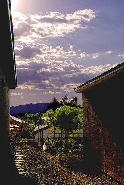This is  shot taken before sunset at the residential area of Las Vegas at the south side of the city, near the city of Henderson.