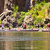 A view of the meeting place for the kayak  and canoe tour of the Black Canyon area. Most are young people and a rowdy bunch.