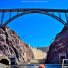 Hoover Dam and the hoover Dam Bridge.