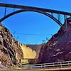 The new Hoover Dam Bridge above.