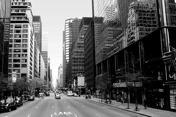 NEW YORK: SHOTS IN MANHATTAN ISLAND, NEW YORK. (BLACK & WHITE PHOTOS)