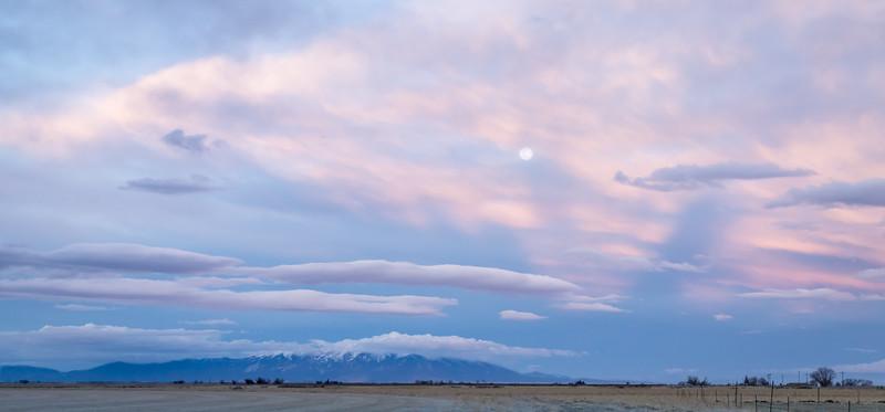 Moon over Blanca Peak