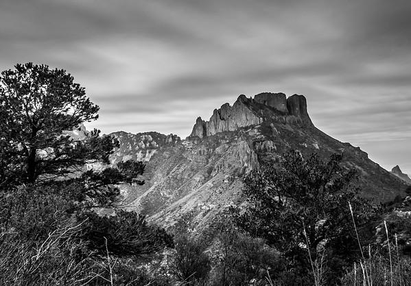 Casa Grande peak seen from Lost Mine trail in Big Bend TX