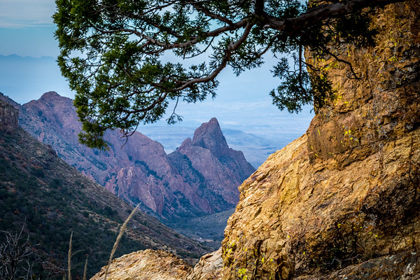 Carter Peak seen from Lost Mine trail in Big Bend TX