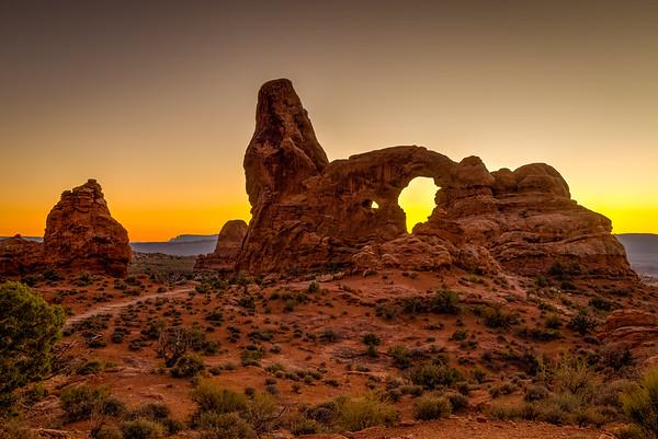 Turret Arch sunset