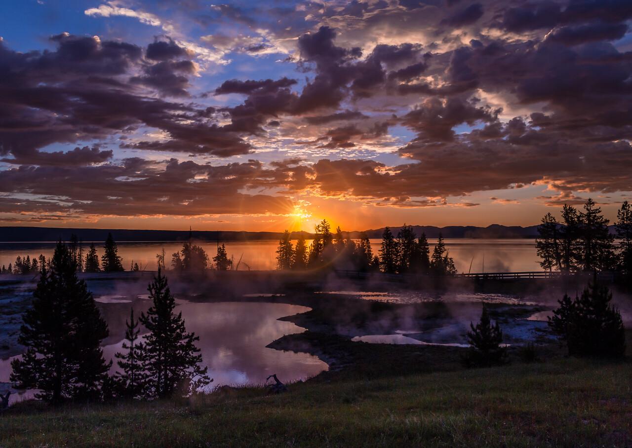 Morning Sunrise in Yellowstone