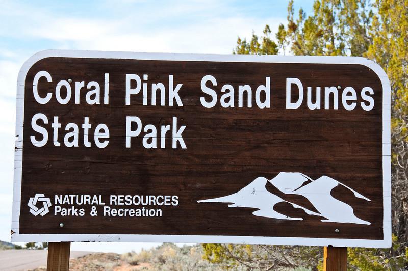 Entering Coral Pink Sand Dunes State Park