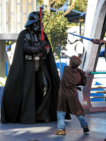 Chad completes his Jedi Training with a battle against Darth Vader.