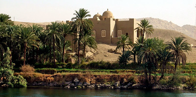 Somebody's own little oasis on the Nile.