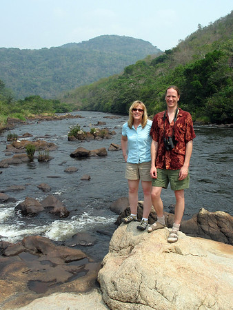 My friend Dan and my wife Sara during a short break on the road to Caracol ruins.