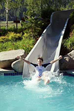 The Resort at Squaw Creek had a pool slide that was a big hit.