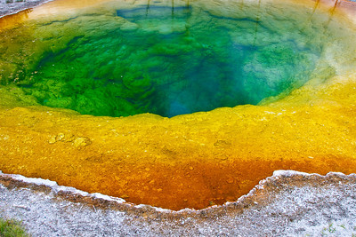 The Morning Glory Pool...I've never seen anything like it.
