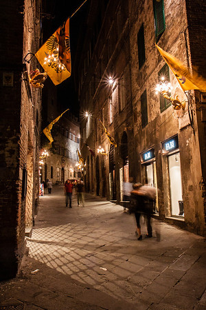One of the many charming streets of Siena.