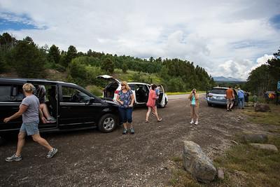our caravan - 14 people, 3 cars.