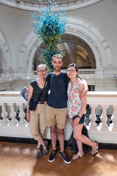Mare, Ben, and Brittany, Victoria & Albert Museum, 06-25-2018
