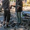 Pigeon man, St. Stephen's Green, Dublin, 06-30-2018