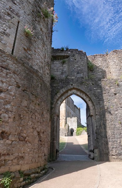 Passage to high tower, Chepstow Castle, 07-03-2018