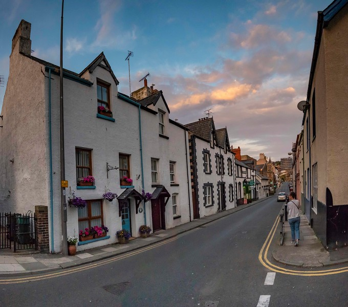 Evening, Berry Street, Conwy, 07-01-2018