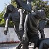 Statue detail, Garden of Remembrance,  Dublin, 06-30-2018