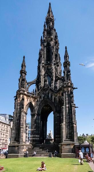 Sir Walter Scott memorial, Edinburgh, 06-28-2018