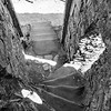 Narrow staircase, Chepstow Castle, 07-03-2018