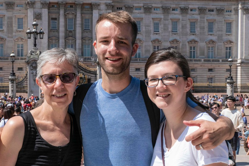 Mare, Ben,  and Brittany, Buckingham Palace,  06-26-2018