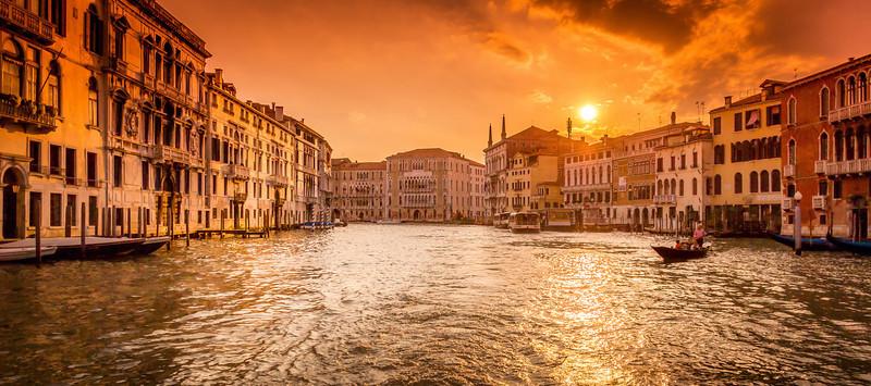 Venice Gran Canal - Sunset