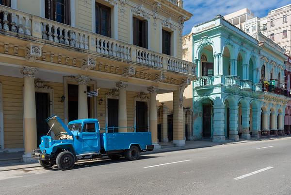 Along Paseo del Prado, Havana.