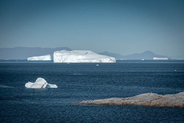 View  of Disco Bay from Ilulissat, Greenland.