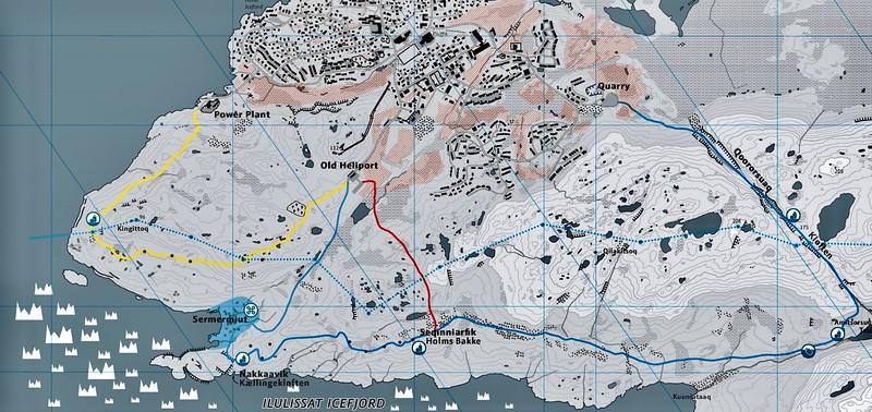 Tour Map Ilulissat.
