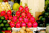 The dragon fruit became my favorite when I was there. Those are the red skinned fruits at the center.