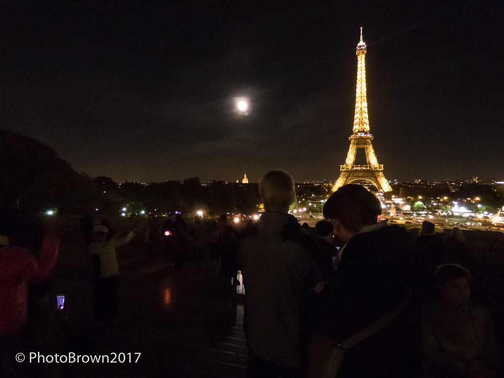 Moon Over Eiffel Tower