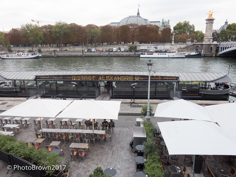 Barge Café On River Seine