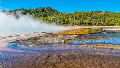 Steam over Grand Prismatic Spring