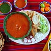 pozole mayan yucatan Mexican soup chili sauces